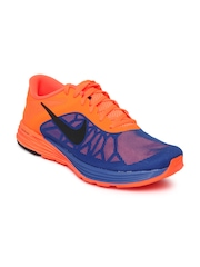 Nike Men Neon Orange Lunar Launch Sports Shoes