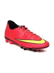 Nike Men Pink Mercurial Vortex II FG Sports Shoes