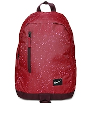 Nike Men Red & Burgundy All Access Half Day Backpack