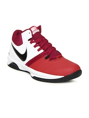Nike Red Air Visi Pro V   Basketball  Sports Shoes
