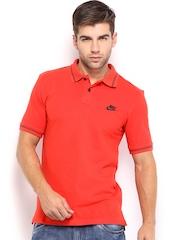 Nike Men Red Slim Fit Polo T-shirt