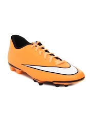 Nike Men Orange Mercurial Vortex II FG Football Shoes