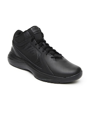 Nike Men Black The Overplay VIII Basketball Shoes