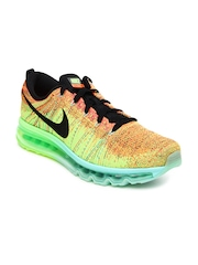 Nike Men Multi-Coloured Flyknit Max Running Shoes