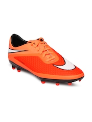 Nike Men Neon Orange Hypervenom Phelon FG Football Shoes