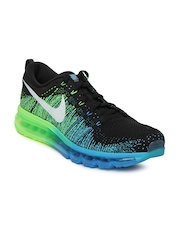 Nike Men Black Flyknit Max Running Shoes