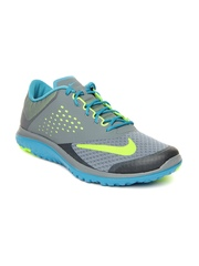 Nike Men Grey & Blue FS Lite Run 2 Running Shoes