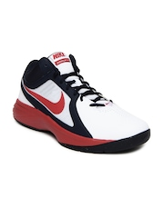 Nike White The Overplay VIII Basketball Shoes
