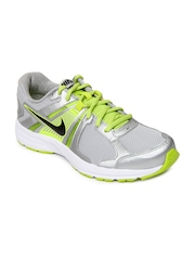 Nike Men Silver Toned Dart 10 MSL Sports Shoes