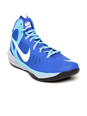 Nike Men Blue Prime Hype DF Leather Running Shoes