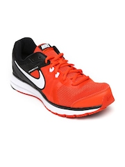 Nike Men Orange & Black ZOOM WINFLO Running Shoes