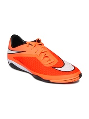 Nike Men Neon Orange Hypervenom Phelon IC Football Shoes
