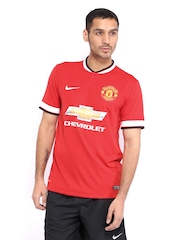Nike Men Red Manchester United Home Jersey