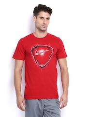 Nike Men Red Printed T-shirt