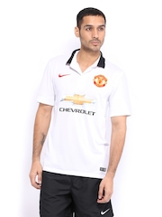 Nike Men White Manchester United Away Jersey ( To Be Shipped After 31st July'14)