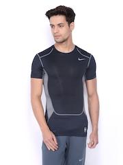 Nike Navy Blue Hypercool Comp 2    Training  Tshirts