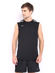 Nike Men Black League Sleeveless Basketball Jersey