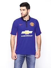Nike Manchester United Men Blue MANU FLD SS Stadium Football Jersey
