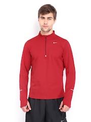 Nike Men Red Element Running T-shirt
