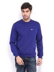 Nike Men Blue Sweatshirt