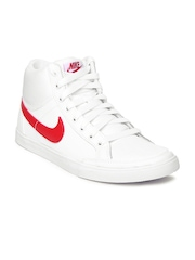 Nike Men White Capri III Mid Leather Casual Shoes