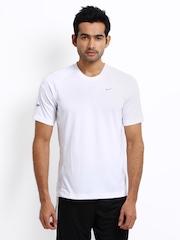 Nike Men White Running T-shirt