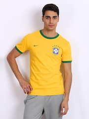 Nike Men Yellow Brazil CBF Football Jersey