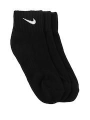 Nike Black 3Pack Cushion Quarter    Training  Socks