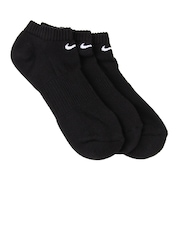 Nike Unisex Black Pack of 3 Socks