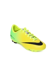Nike Unisex Yellow & Neon Green JR Mercurial Sports Shoes