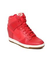 Nike Women Red Dunk Sky Hi Casual Shoes
