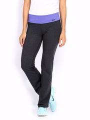 Nike Charcoal Legend 2 Slim Dri-fit Cotton  Training  Track Pants
