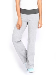 Nike Women Grey Melange Regular Fit Track Pants