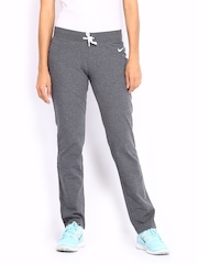 Nike Women Grey Melange Track Pants