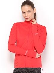 Nike Women Red AS Element Shield FZ Running Jacket