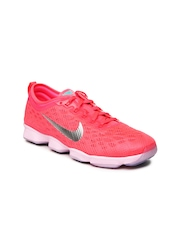 Nike Women Neon Pink Zoom Fit Agility Training Shoes
