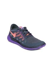 Nike Women Dark Grey Free 5.0 Sports Shoes