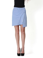 Nineteen Blue & White Striped Skirt