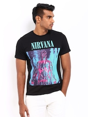 Nirvana Men Black Printed T-shirt