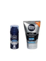 Men All-In-1 10x Whitening Effect Face Wash with Free Men Shaving Foam Nivea