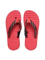 Numero Uno Men Black & Red Flip Flops