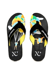 Numero Uno Men Black Flip Flops