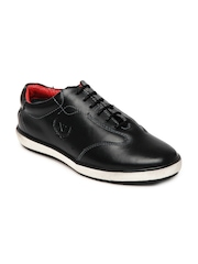 Numero Uno Men Black Leather Casual Shoes