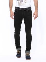 Numero Uno Men Black Martin Super Tight Fit Jeans