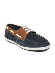 Numero Uno Men Blue & Brown Boat Shoes