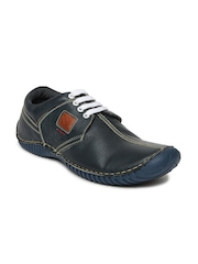 Numero Uno Men Navy Leather Casual Shoes