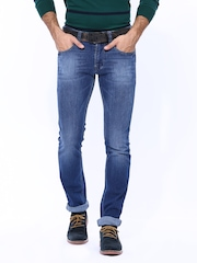 Numero Uno Men Blue Martin Super Slim Fit Jeans