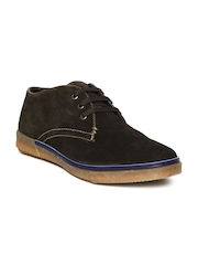 Numero Uno Men Olive Green Casual Shoes