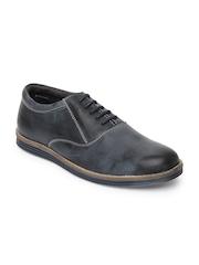 Numero Uno Men Navy Leather Casual Shoes