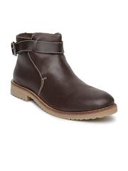 Numero Uno Men Brown Leather Casual Shoes